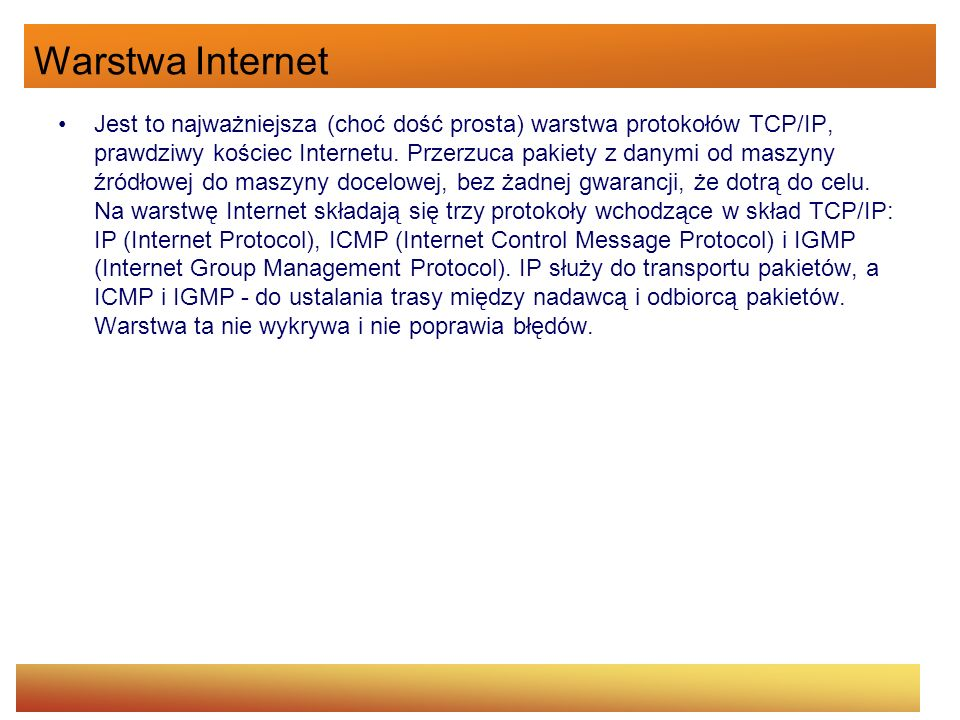 Warstwa Internet