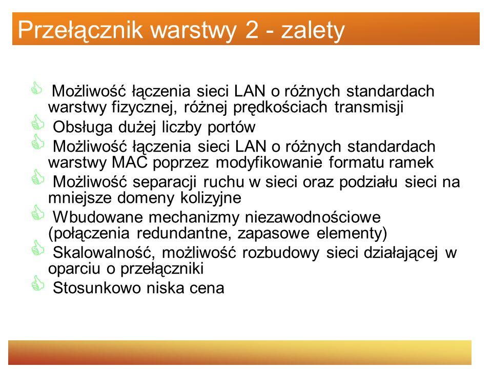 Przełącznik warstwy 2 - zalety