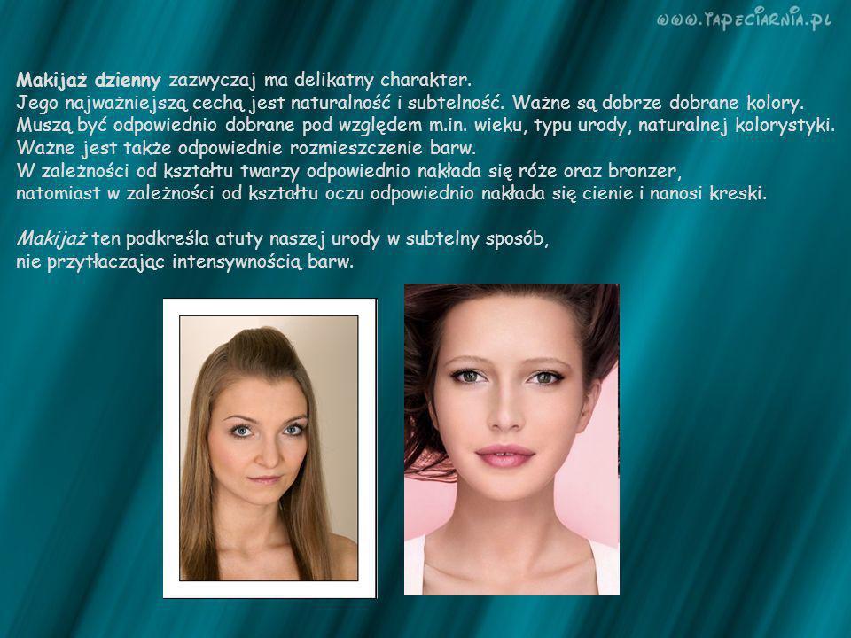 Makijaż dzienny zazwyczaj ma delikatny charakter.