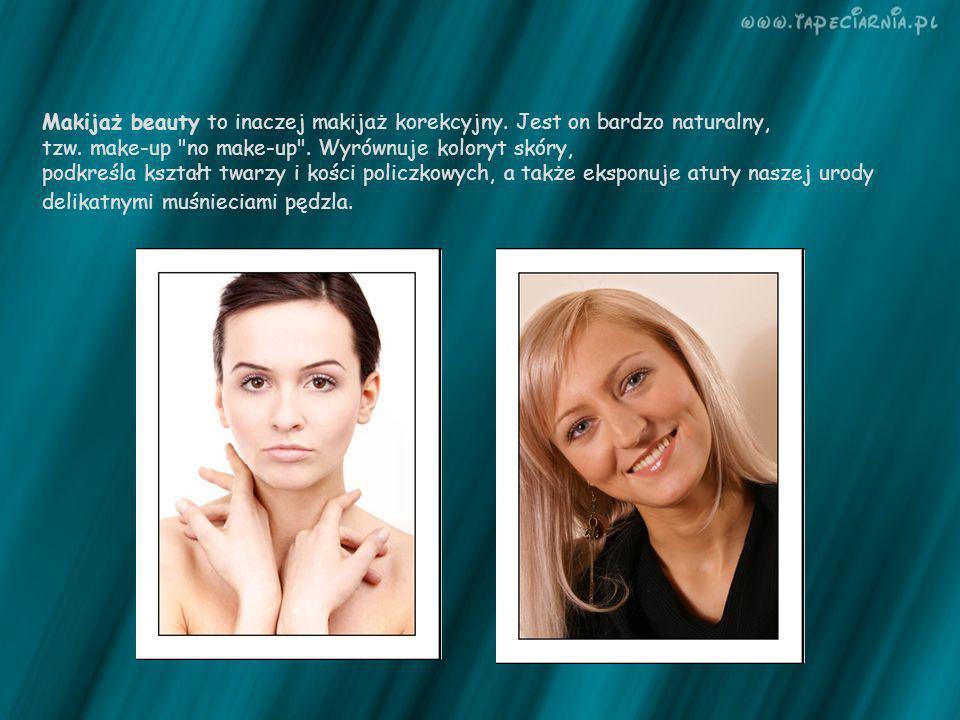 Makijaż beauty to inaczej makijaż korekcyjny. Jest on bardzo naturalny,