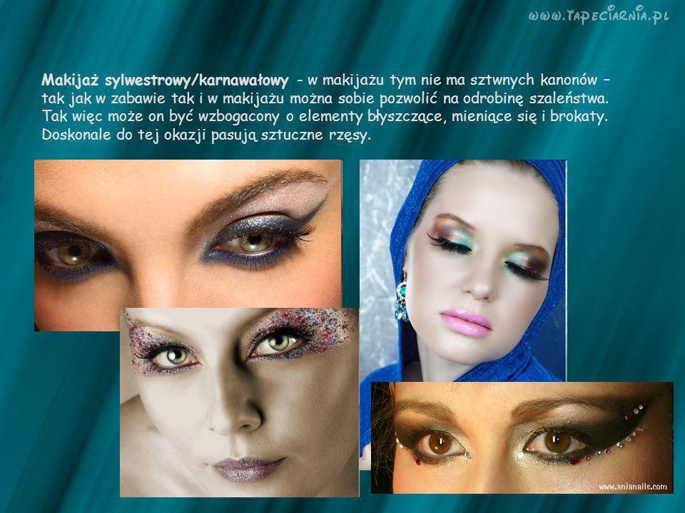 Makijaż sylwestrowy/karnawałowy - w makijażu tym nie ma sztwnych kanonów –