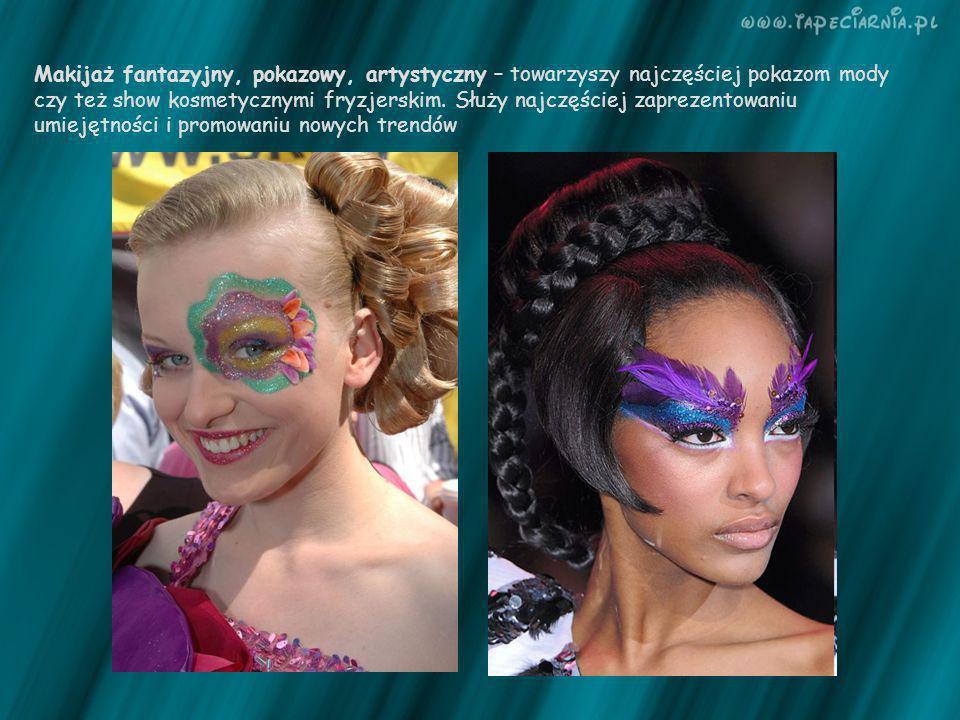 Makijaż fantazyjny, pokazowy, artystyczny – towarzyszy najczęściej pokazom mody