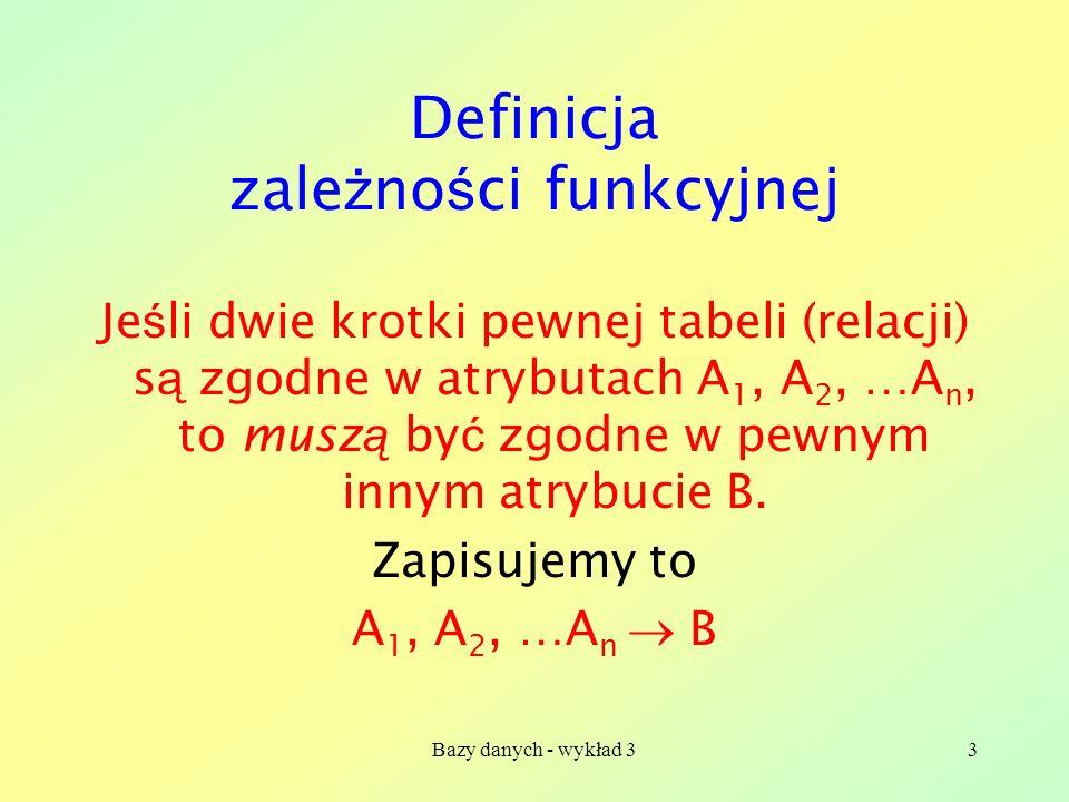 Definicja zależności funkcyjnej