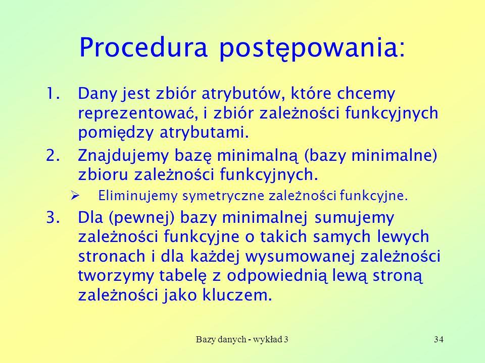 Procedura postępowania: