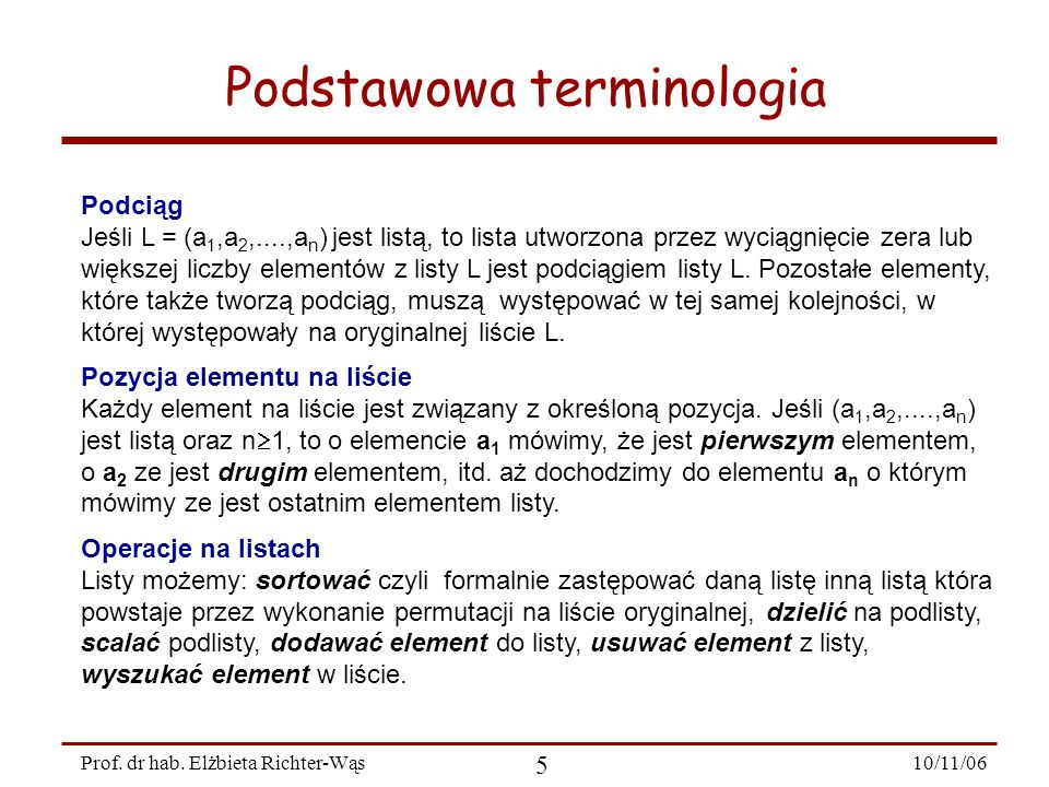 Podstawowa terminologia