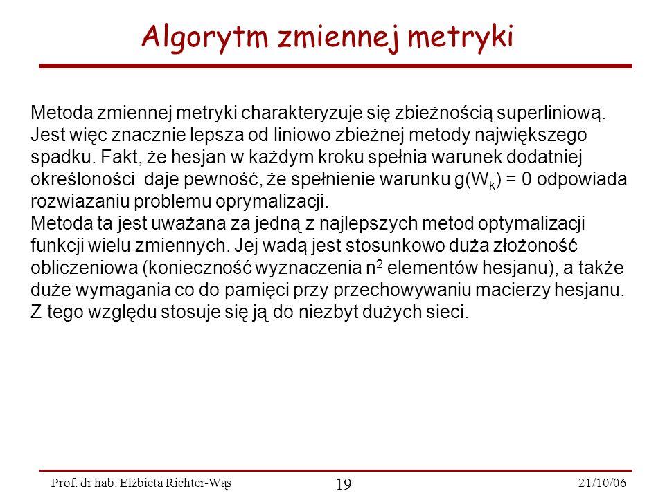 Algorytm zmiennej metryki