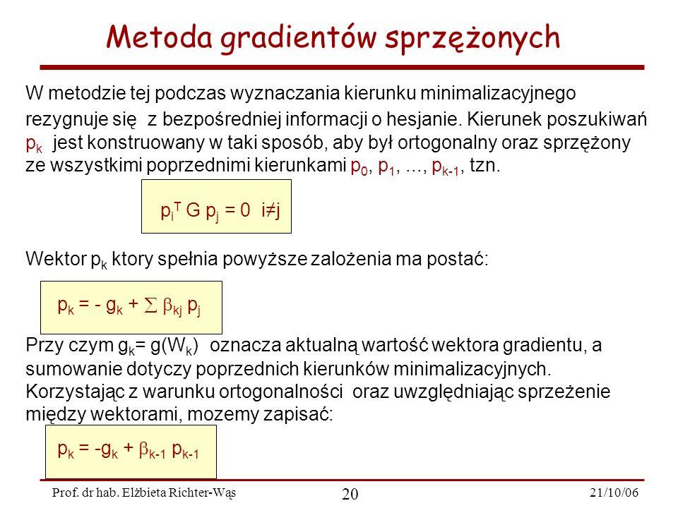 Metoda gradientów sprzężonych