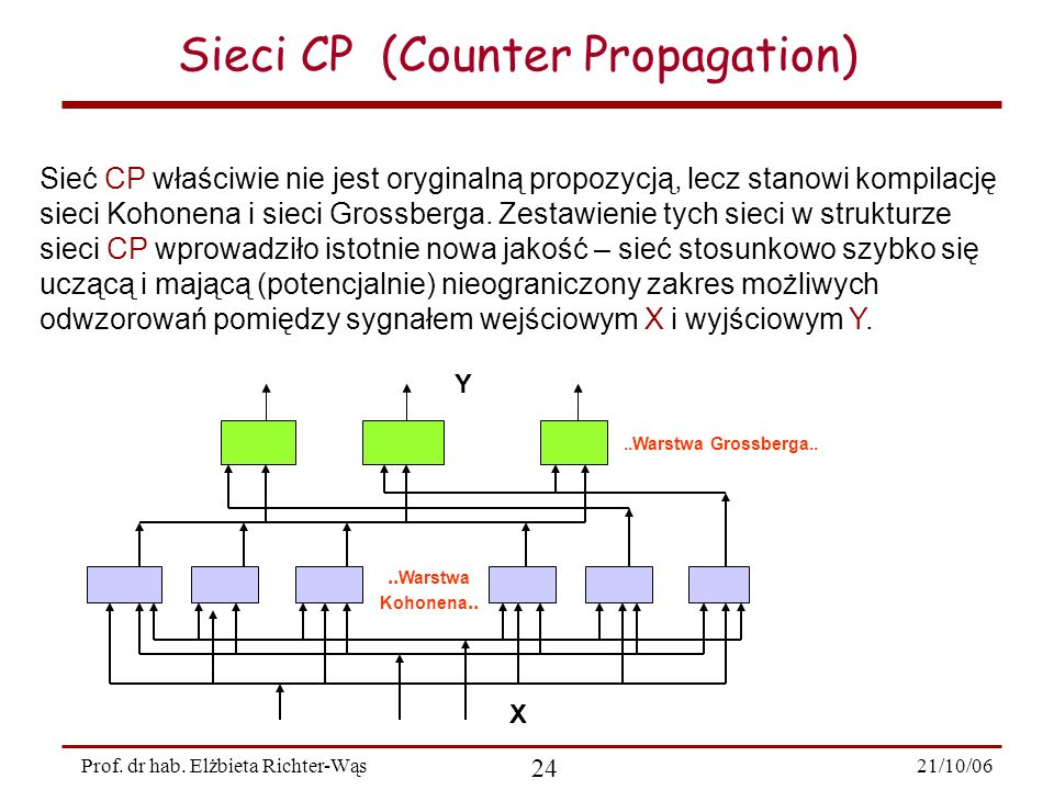 Sieci CP (Counter Propagation)