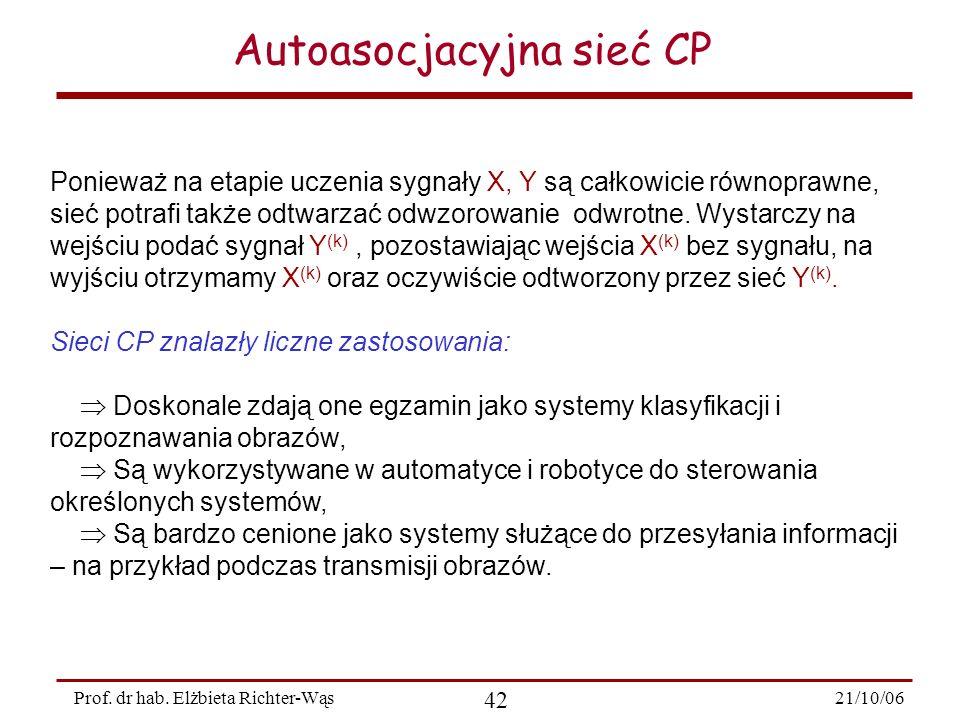 Autoasocjacyjna sieć CP