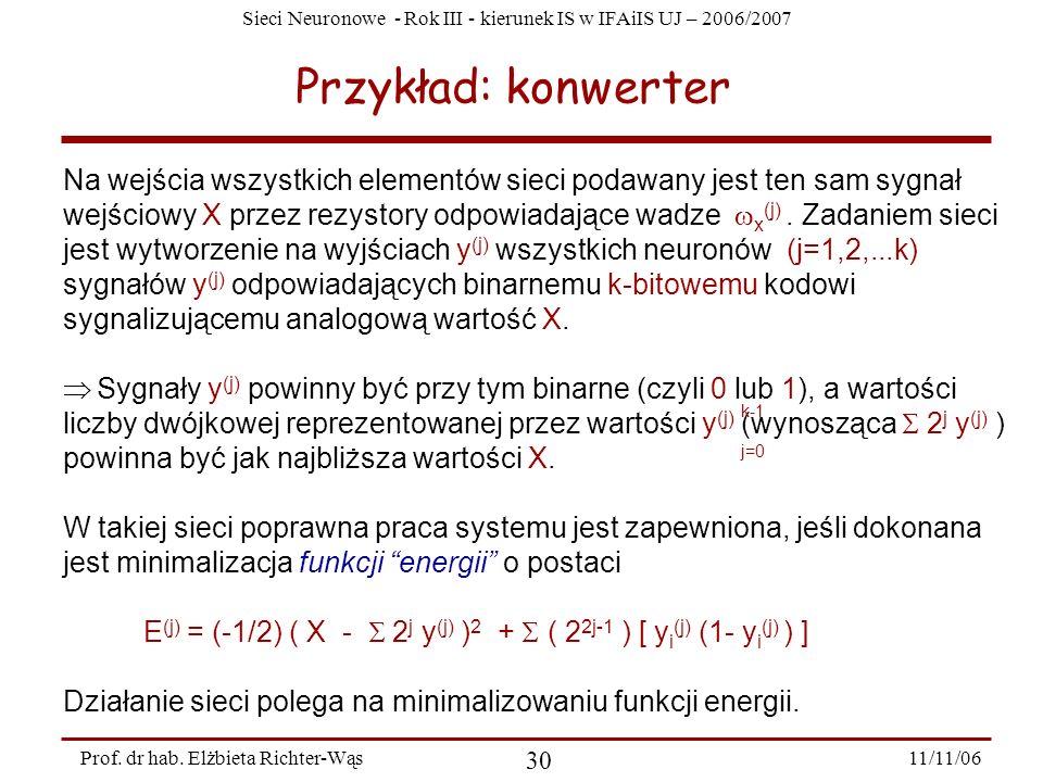 Przykład: konwerter
