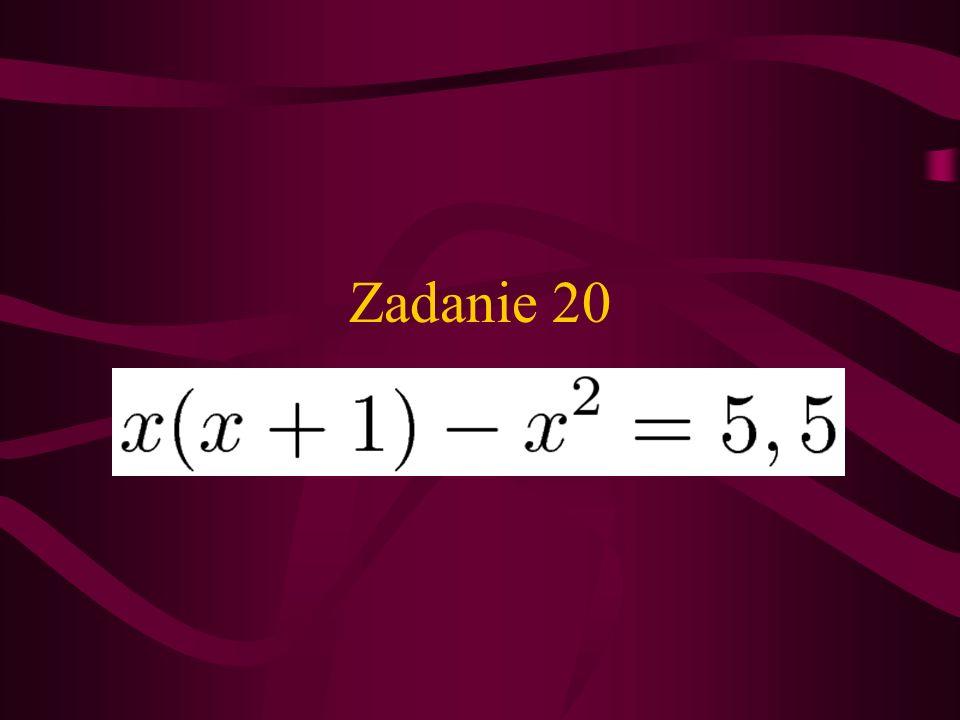 Zadanie 20