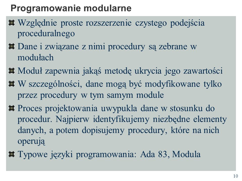 Programowanie modularne