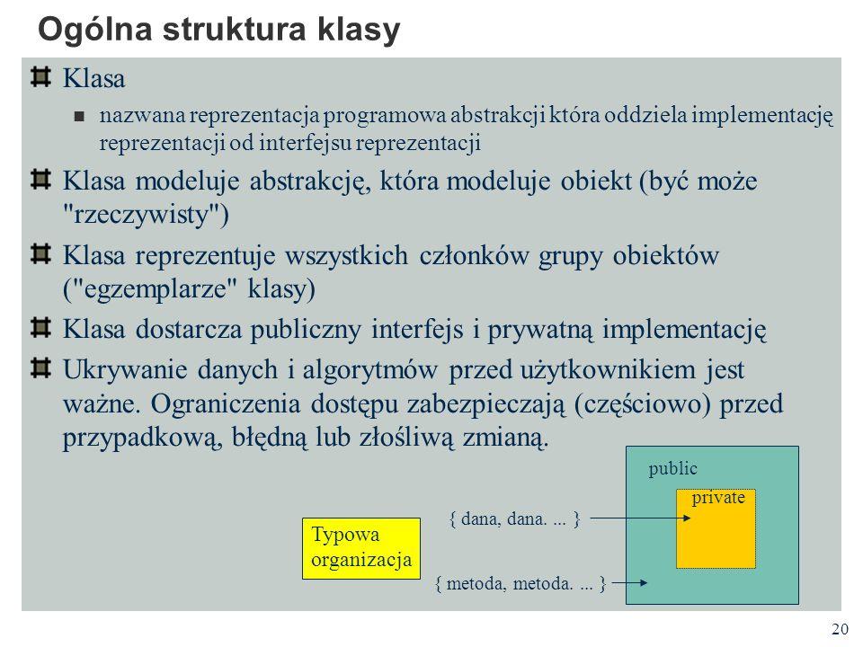 Ogólna struktura klasy
