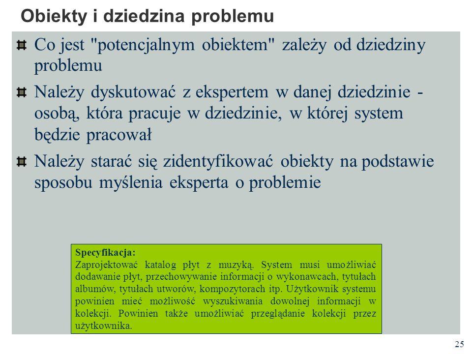 Obiekty i dziedzina problemu