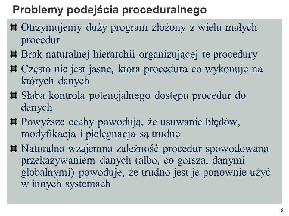 Problemy podejścia proceduralnego