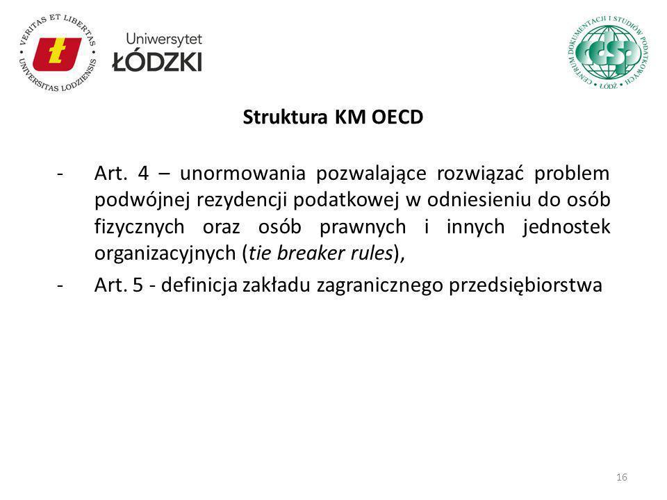 Struktura KM OECD