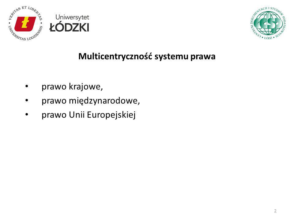 Multicentryczność systemu prawa