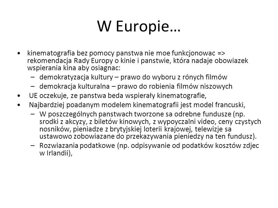 W Europie…