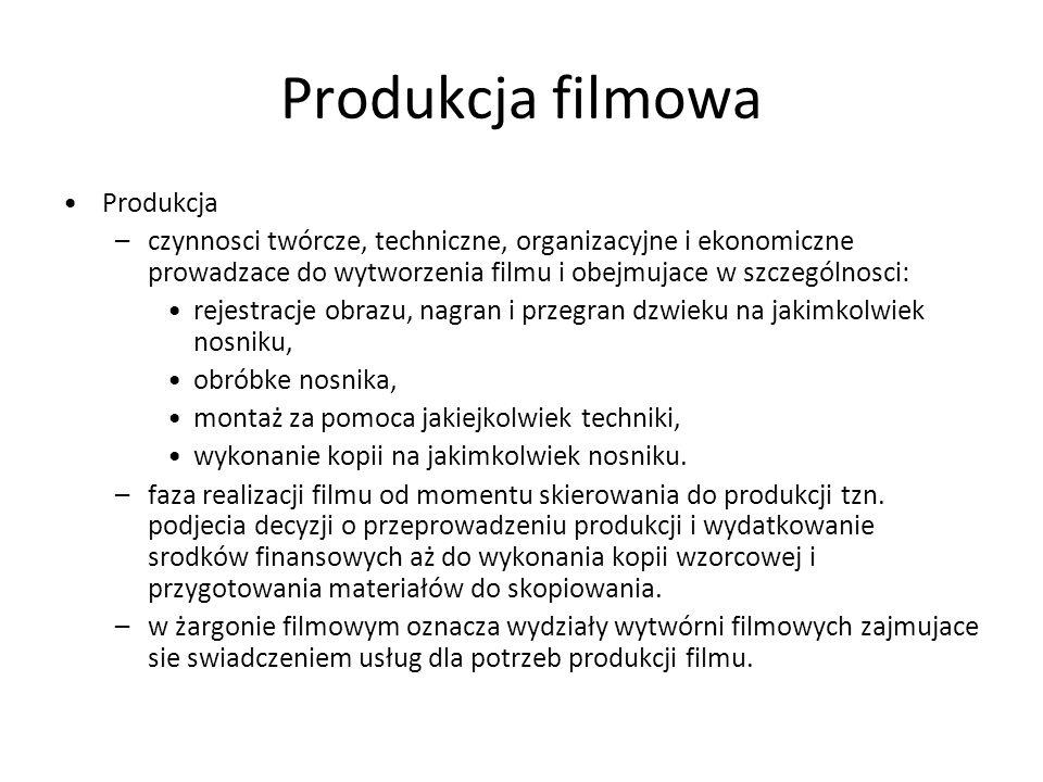 Produkcja filmowa Produkcja