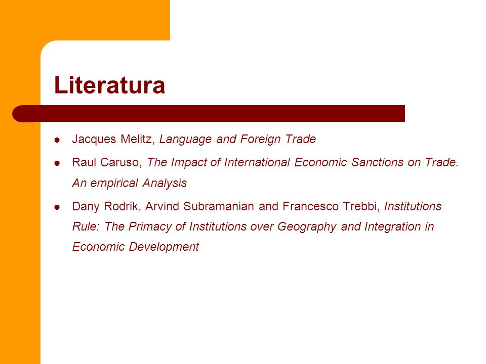 Literatura Jacques Melitz, Language and Foreign Trade