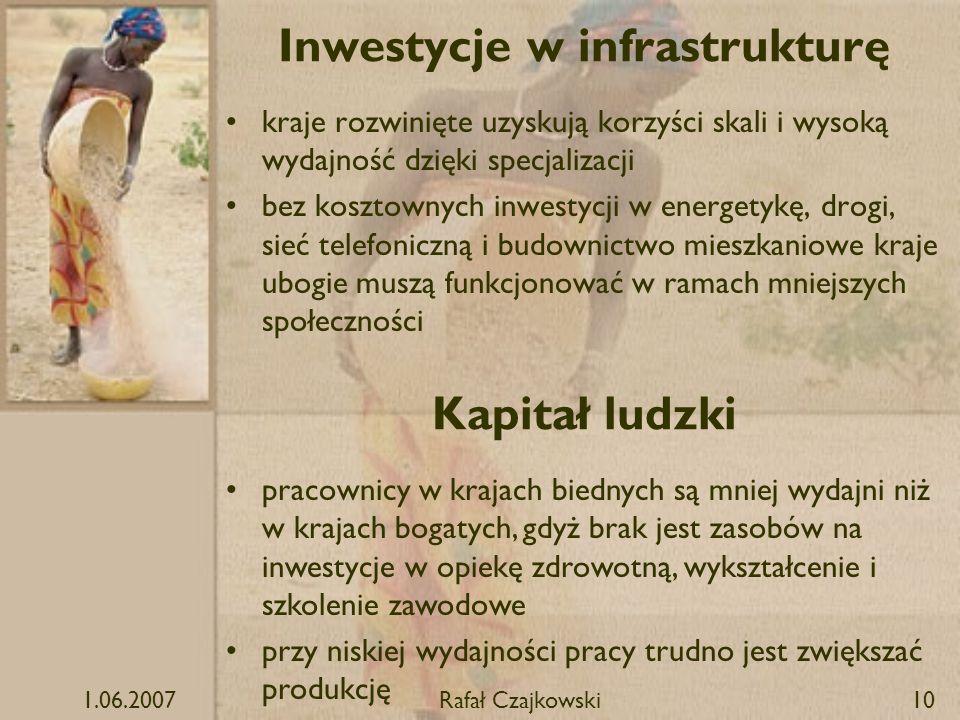 Inwestycje w infrastrukturę