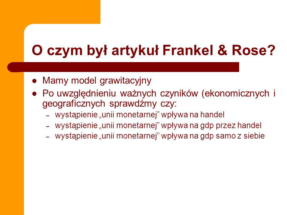 O czym był artykuł Frankel & Rose