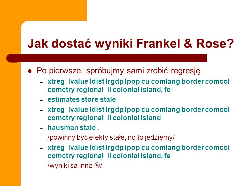 Jak dostać wyniki Frankel & Rose