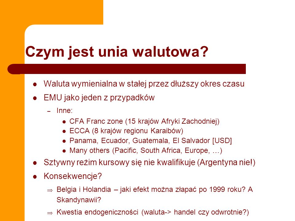 Czym jest unia walutowa