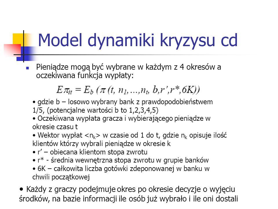 Model dynamiki kryzysu cd