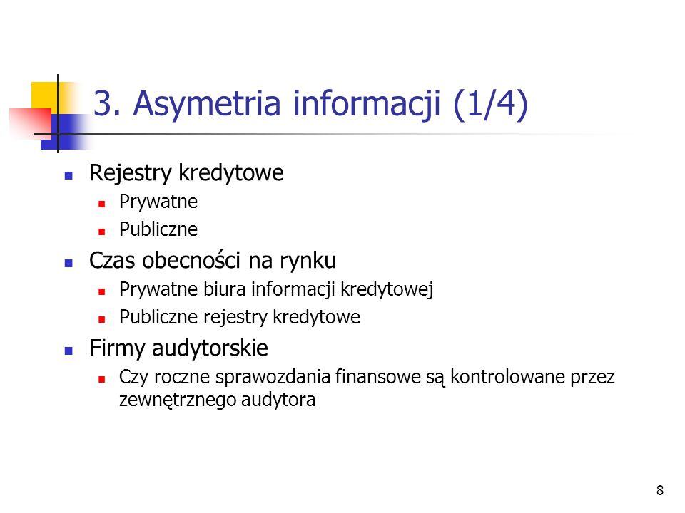 3. Asymetria informacji (1/4)