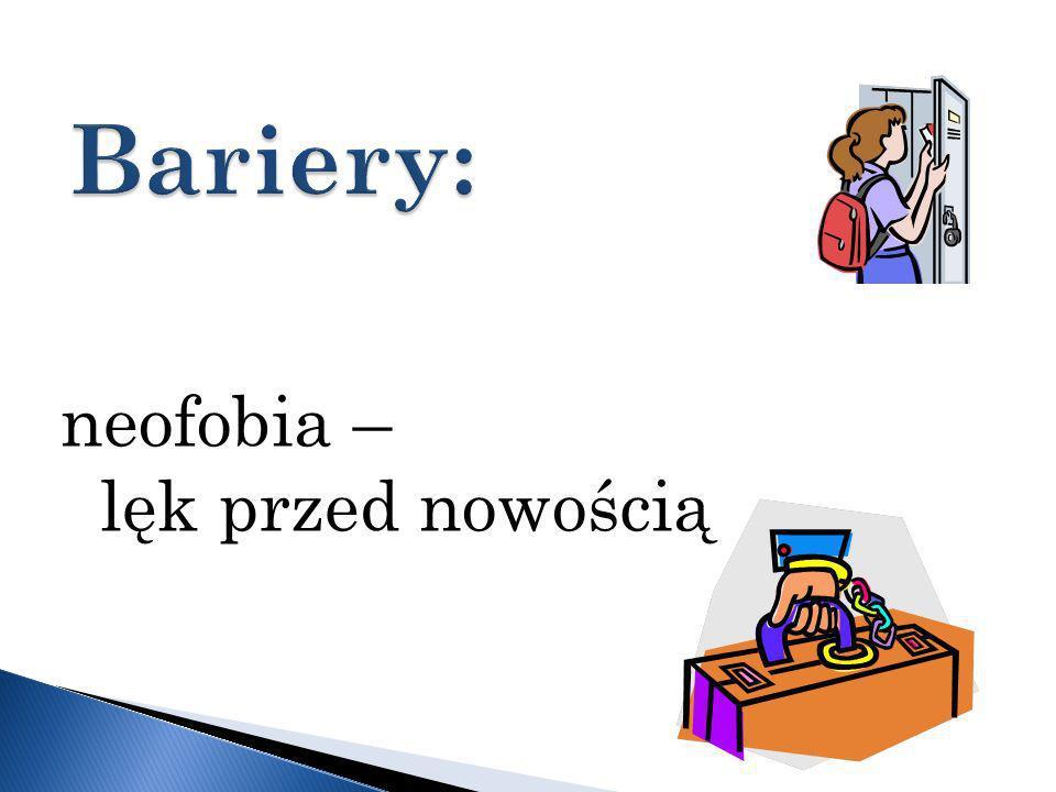 Bariery: neofobia – lęk przed nowością