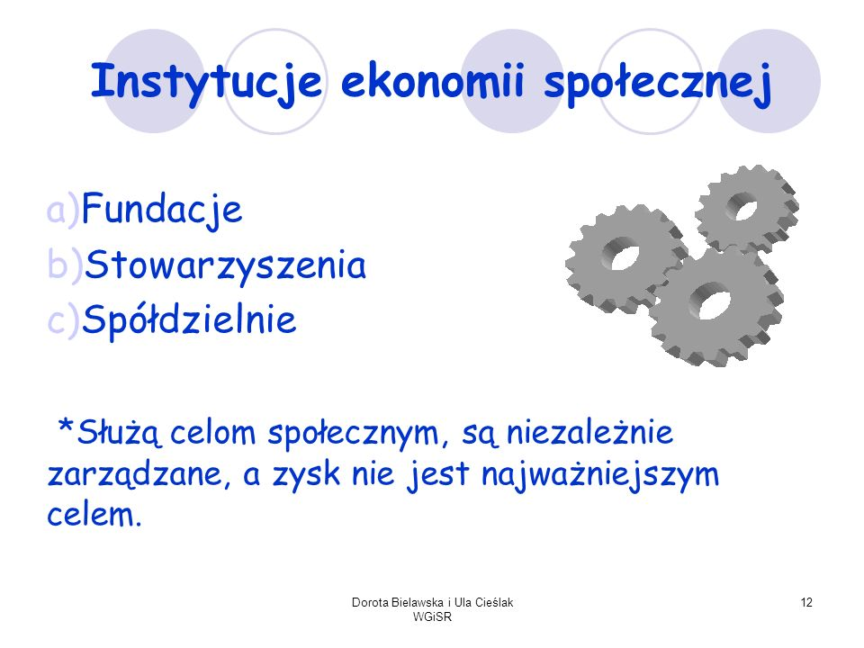 Instytucje ekonomii społecznej