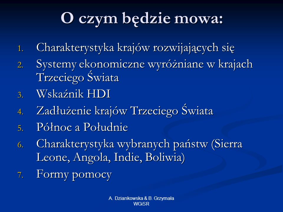 A. Dziankowska & B. Grzymała WGiSR