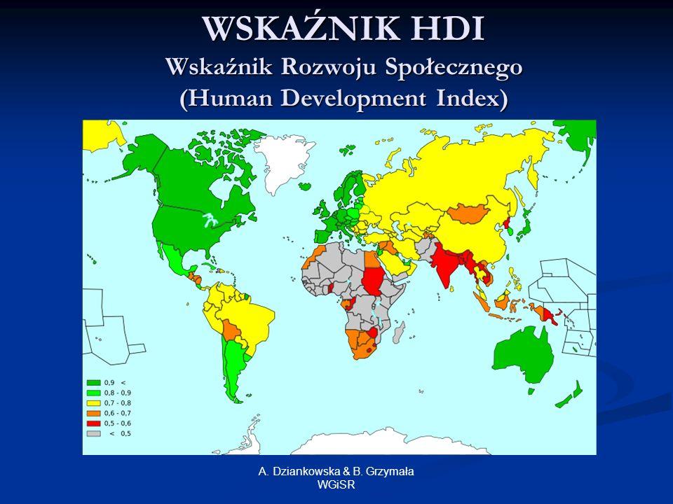 WSKAŹNIK HDI Wskaźnik Rozwoju Społecznego (Human Development Index)