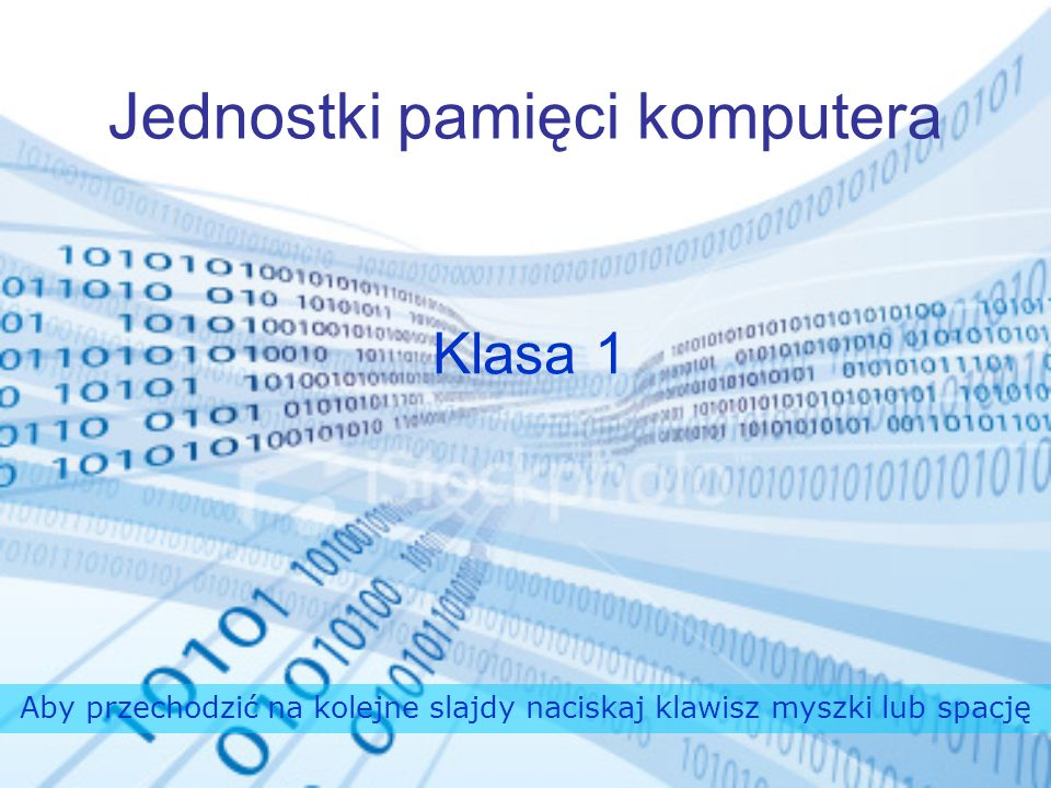 Jednostki pamięci komputera