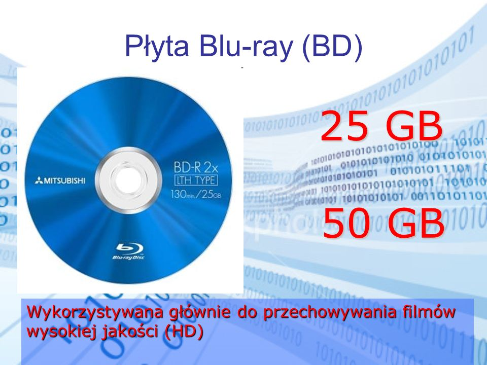 25 GB 50 GB Płyta Blu-ray (BD)