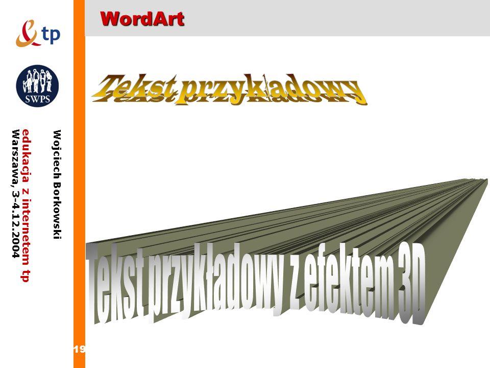 Tekst przykładowy z efektem 3D