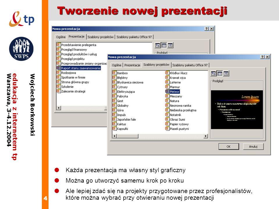 Tworzenie nowej prezentacji