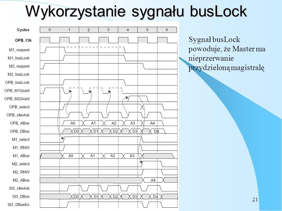 Wykorzystanie sygnału busLock