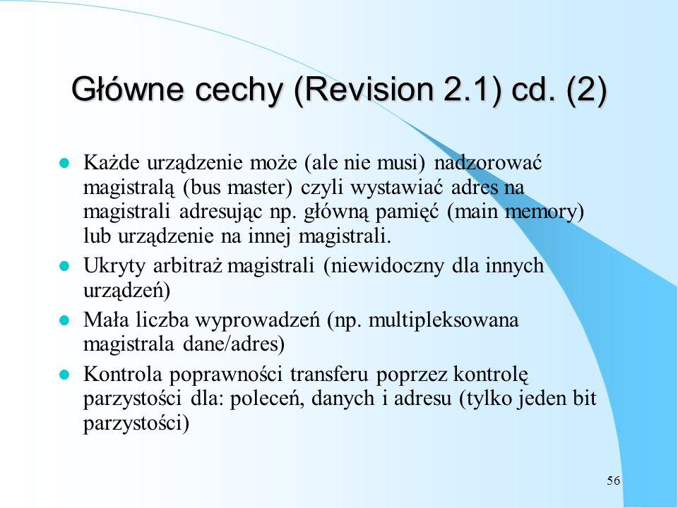 Główne cechy (Revision 2.1) cd. (2)