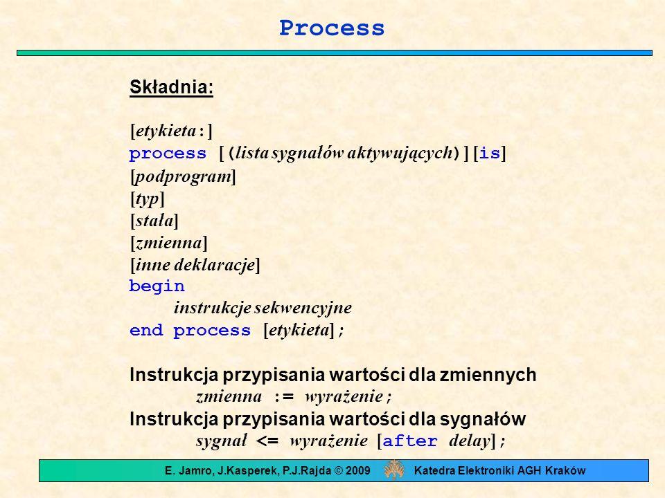 E. Jamro, J.Kasperek, P.J.Rajda © 2009 Katedra Elektroniki AGH Kraków