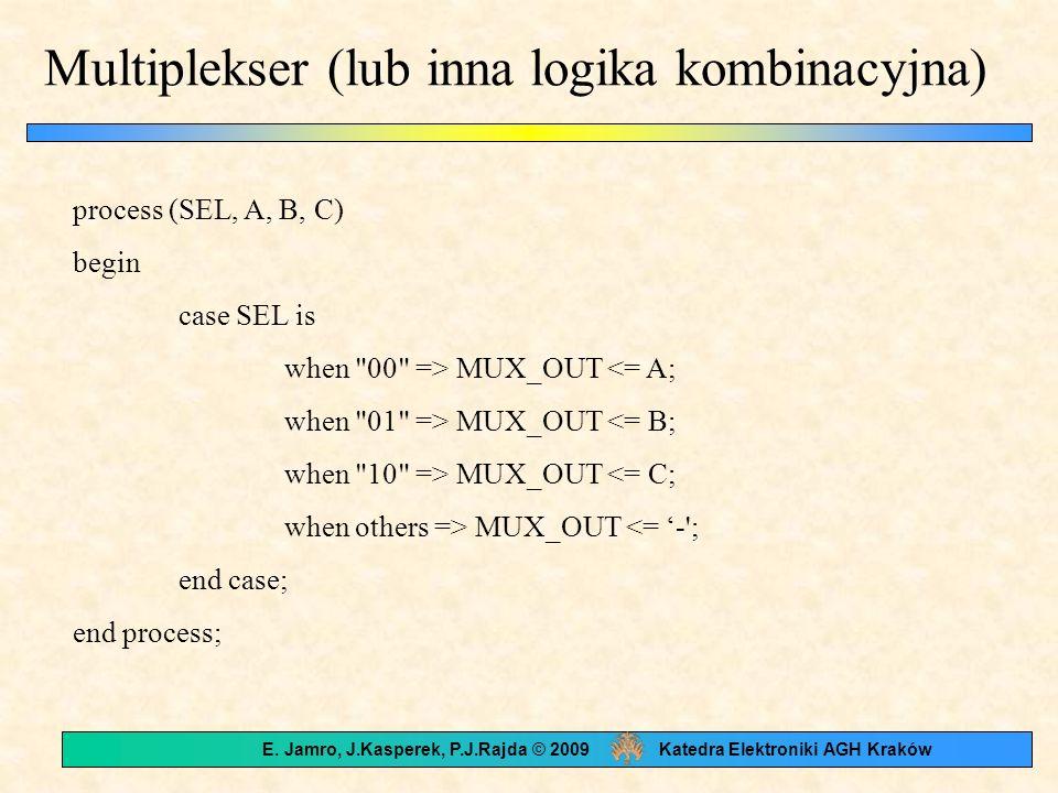Multiplekser (lub inna logika kombinacyjna)