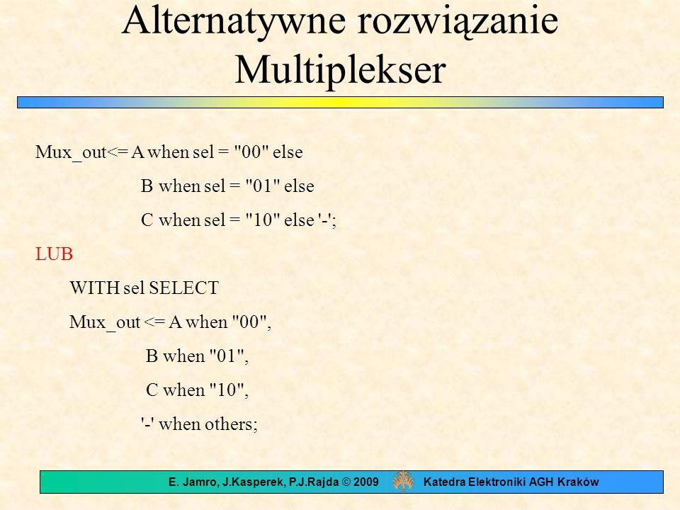 Alternatywne rozwiązanie Multiplekser