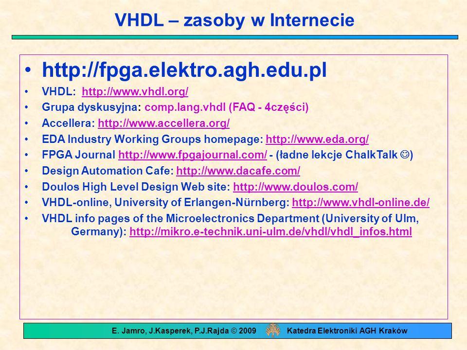 VHDL – zasoby w Internecie