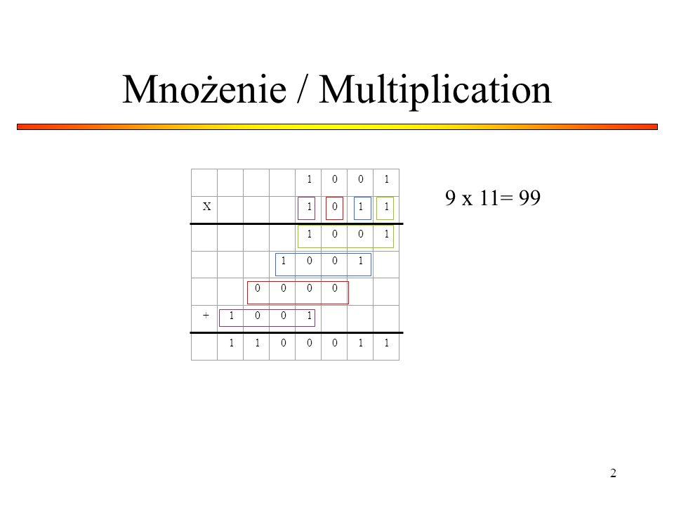Mnożenie / Multiplication