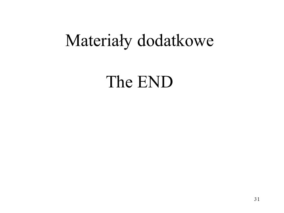 Materiały dodatkowe The END
