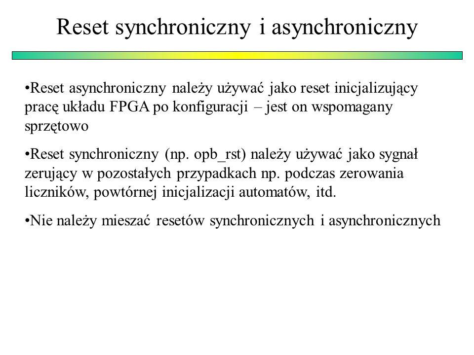 Reset synchroniczny i asynchroniczny