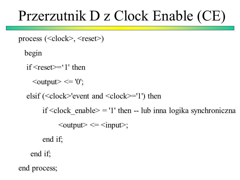 Przerzutnik D z Clock Enable (CE)