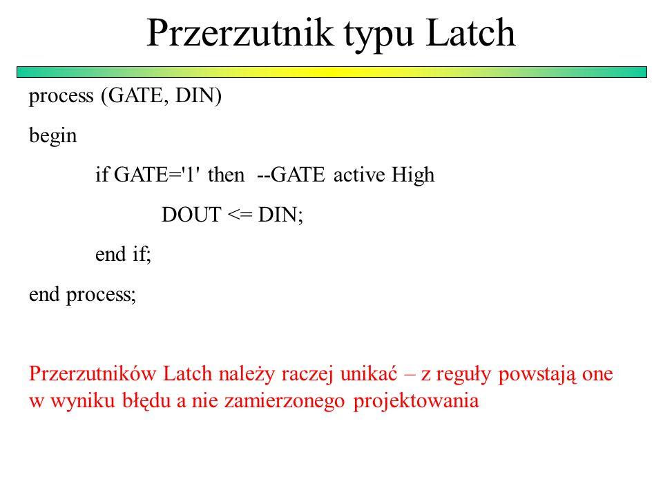 Przerzutnik typu Latch