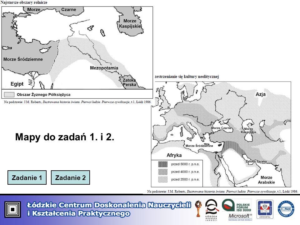 Mapy do zadań 1. i 2. Zadanie 1 Zadanie 2